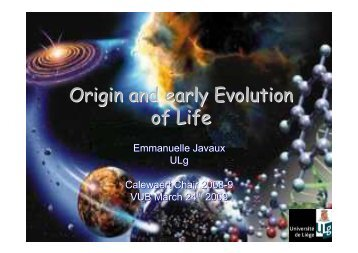 Origin and early Evolution of Life