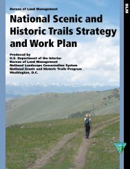 BLM National Scenic and Historic Trails Strategy and Work Plan