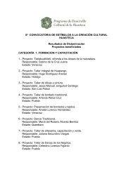 8ª CONVOCATORIA DE ESTÍMULOS A LA CREACIÓN CULTURAL ...