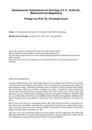 Prof. Dr. Christoph Arens - ESG Magdeburg