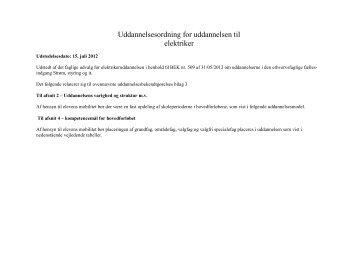 Uddannelsesordningen Elektrikeruddannelsen - EVU