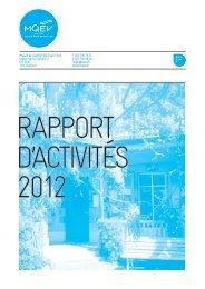 Rapport d'activités - MQEV