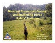Missouri Equestrian Survey: Understanding Horse Riders' Trail Use