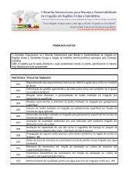 TRABALHOS ACEITOS A Comissão Organizadora da II ... - UFRB
