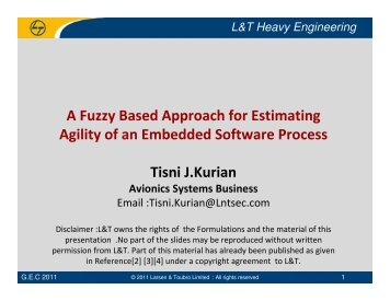 A Fuzzy Based Approach for Estimating Agility of an Embedded ...
