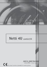 Netti 4U comfort|CE BRUKERMANUAL - Alu Rehab