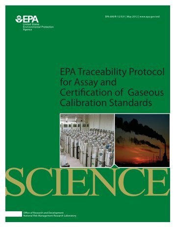 EPA Traceability Protocol for Assay and - Source Evaluation Society