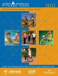 full 2011 report (PDF) - American Fitness Index