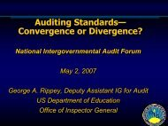Auditing Standards— Convergence or Divergence? Auditing Standards ...