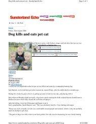 Dog kills and eats pet cat - Understand-A-Bull
