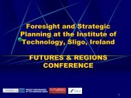 Foresight and Strategic Planning at the Institute of ... - Urenio