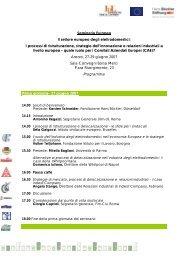 programma (pdf) - Archivio Fondazione Istituto per il Lavoro ...