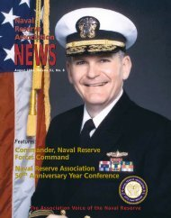 NEWS Naval Reserve Association Naval Reserve Association ...