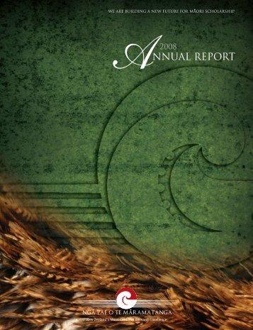2008 Annual Report - Ngā Pae o te Māramatanga