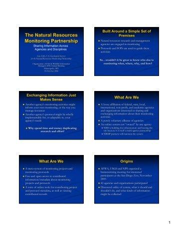 The Natural Resources Monitoring Partnership - Organization of ...