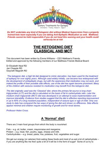 The Different Types of Ketogenic Diet - Matthews Friends
