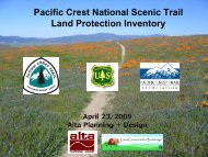 Pacific Crest Trail Land Protection Inventory Pacific Crest National ...