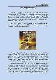Don Quijote en Comic - jorge andujar