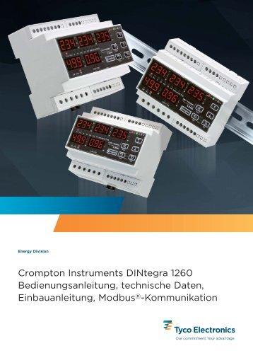 Crompton Instruments DINtegra 1260 Bedienungsanleitung ...