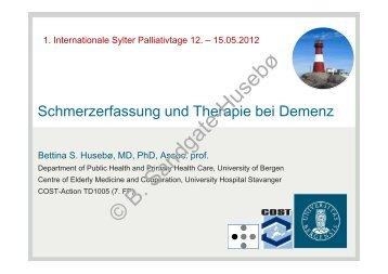 Schmerzerfassung und Therapie bei Demenz - Palliativtage-sylt.de