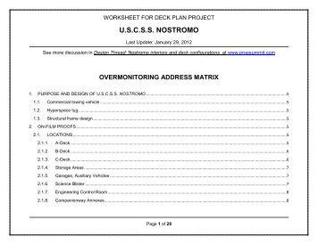 U.S.C.S.S. NOSTROMO - EATEL.net