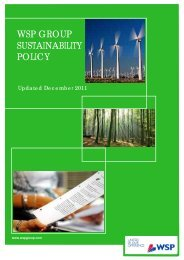 WSP GROUP SUSTAINABILITY POLICY