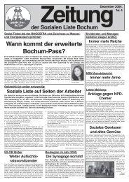 Wann kommt der erweiterte Bochum-Pass? - Zeitungen - Soziale Liste