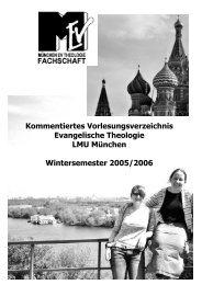 Wintersemester 2005/06 - Fachschaft evangelische Theologie