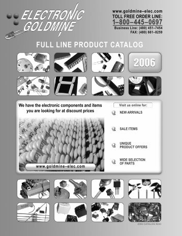 FULL LINE PRODUCT CATALOG - Electronic Goldmine
