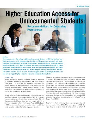 Higher Education Access for Undocumented Students: