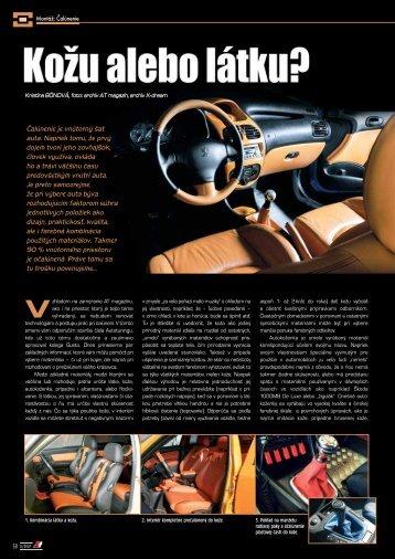 Čalúnenie je vnútorný šat auta. Napriek tomu, že ... - AutoTuning.sk