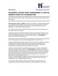 hexaware locates asset management & capital markets practice