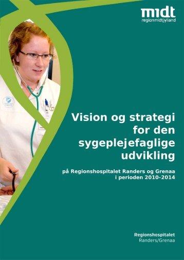 Vision og strategi for den sygeplejefaglige udvikling