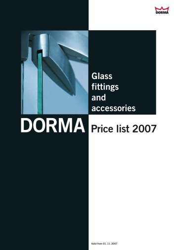 Glass fittings and accessories