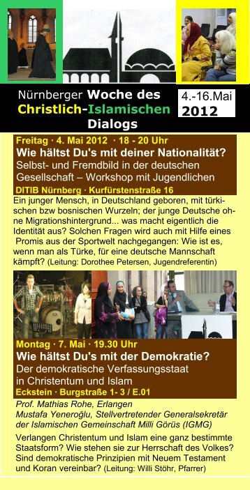 Christlich-Islamischen Dialogs 4.-16.Mai