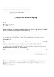Ansuchen um Baubewilligung - Grambach