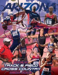 2010 Men's and Women's Cross Country/Track and Field Media Guide