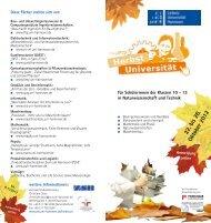 22. bis 26. Oktober 2012 - Zentrale Studienberatung der Leibniz ...