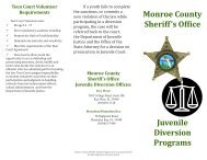 Download a brochure about these programs - Monroe County ...
