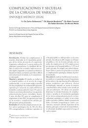 complicaciones y secuelas de la cirugia de varices - Sociedad de ...