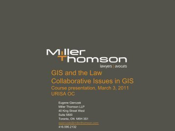 GIS and the Law Collaborative Issues in GIS