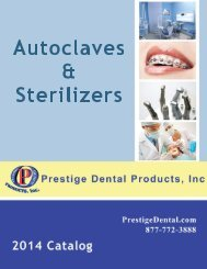 Equipment / Autoclaves - Prestige Dental Products