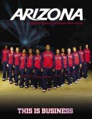 2008-09 Women's Basketball Media Guide - University of Arizona ...