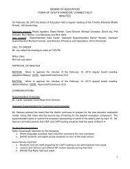 Minutes - South Windsor Public Schools