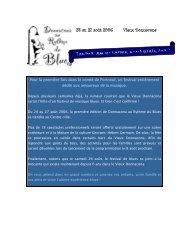 24 au 27 août 2006 Vieux Donnacona - Ville de Donnacona