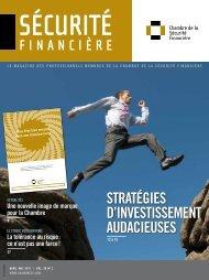 avril-mai 2011 - Vol. 36 - No 2 - Chambre de la sécurité financière