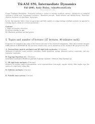 570 Syllabus and homework.tex - Andy Ruina