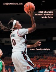 2011-12 Women's Basketball Media Guide - University of Arizona ...