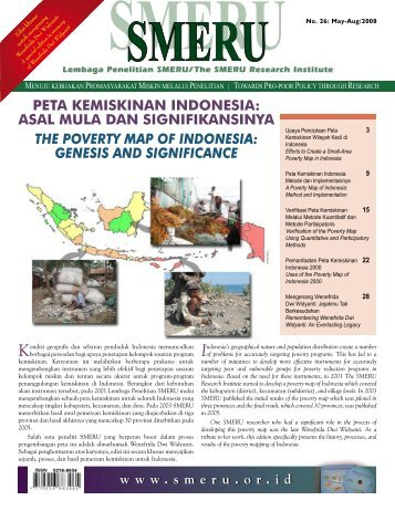 PETA KEMISKINAN INDONESIA - SMERU Research Institute