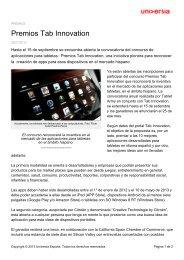 Premios Tab Innovation - Noticias Universia